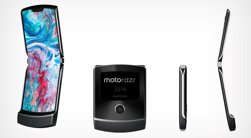 A rendering of Motorola's new Razr